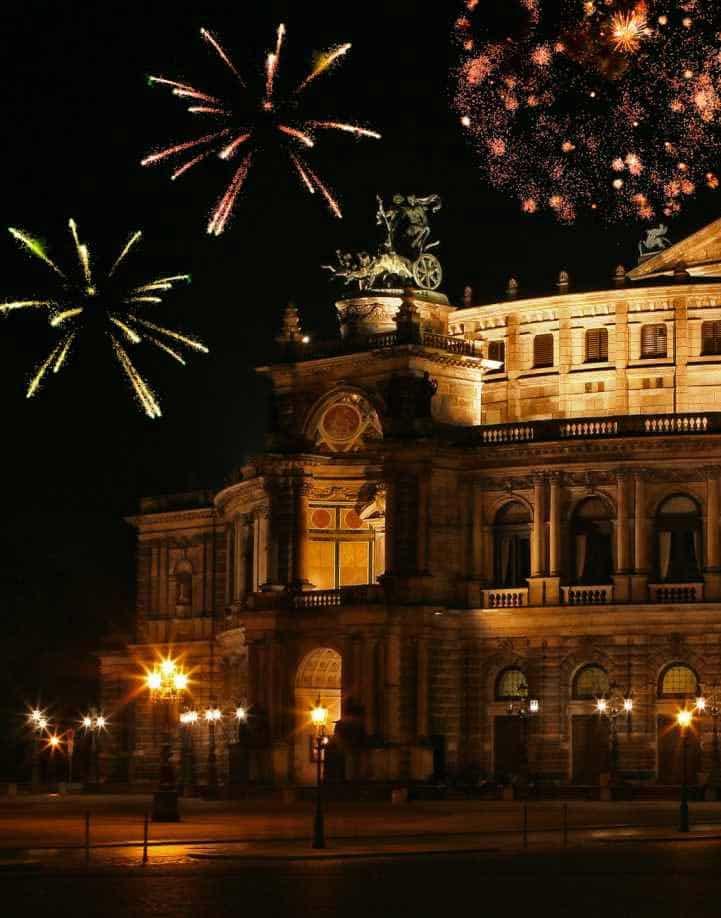 Dresden zu Silvester mit Semperoper und Frauenkirche